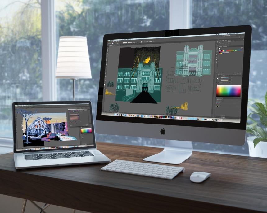 premium-workspace-mockup-blur